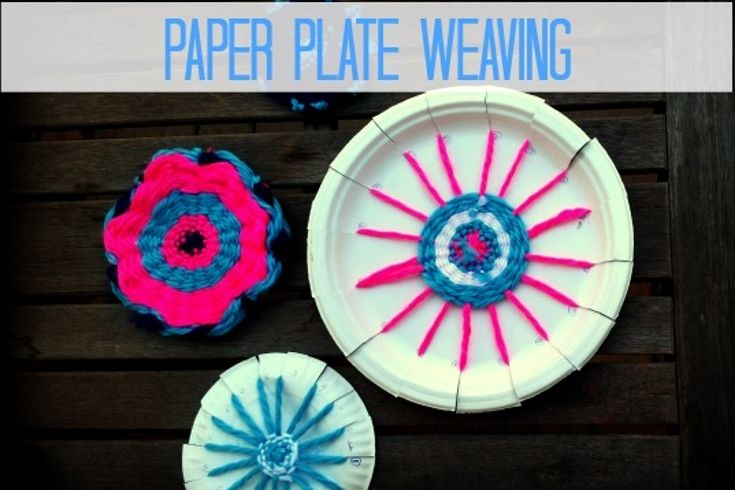 "Want a low-cost loom activity that is not of the ""rainbow"" variety? Try paper plate weaving. All you need is a paper plate, yarn and a few simple materials to get started"