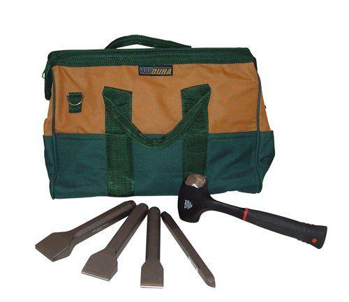 Bon 11 906 Complete Stone Mason Carbide Chisel Set In Tool Bag Tool Bag Chisel Set Stone