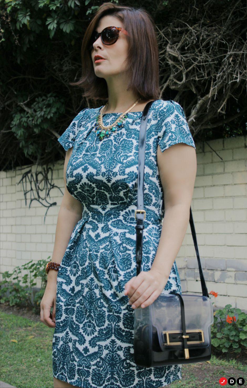 501b12296 Look del día - Vestido verde floral para eventos - Divina EjecutivaDivina  Ejecutiva