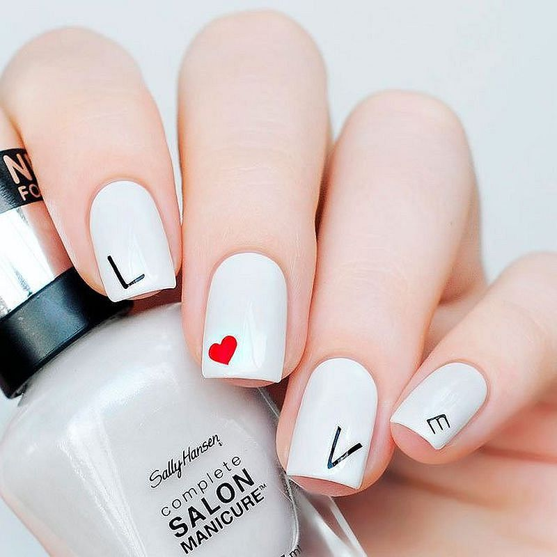 Love Nail Art: 44 Valentine's Day Nail Art Designs To Fall In Love With