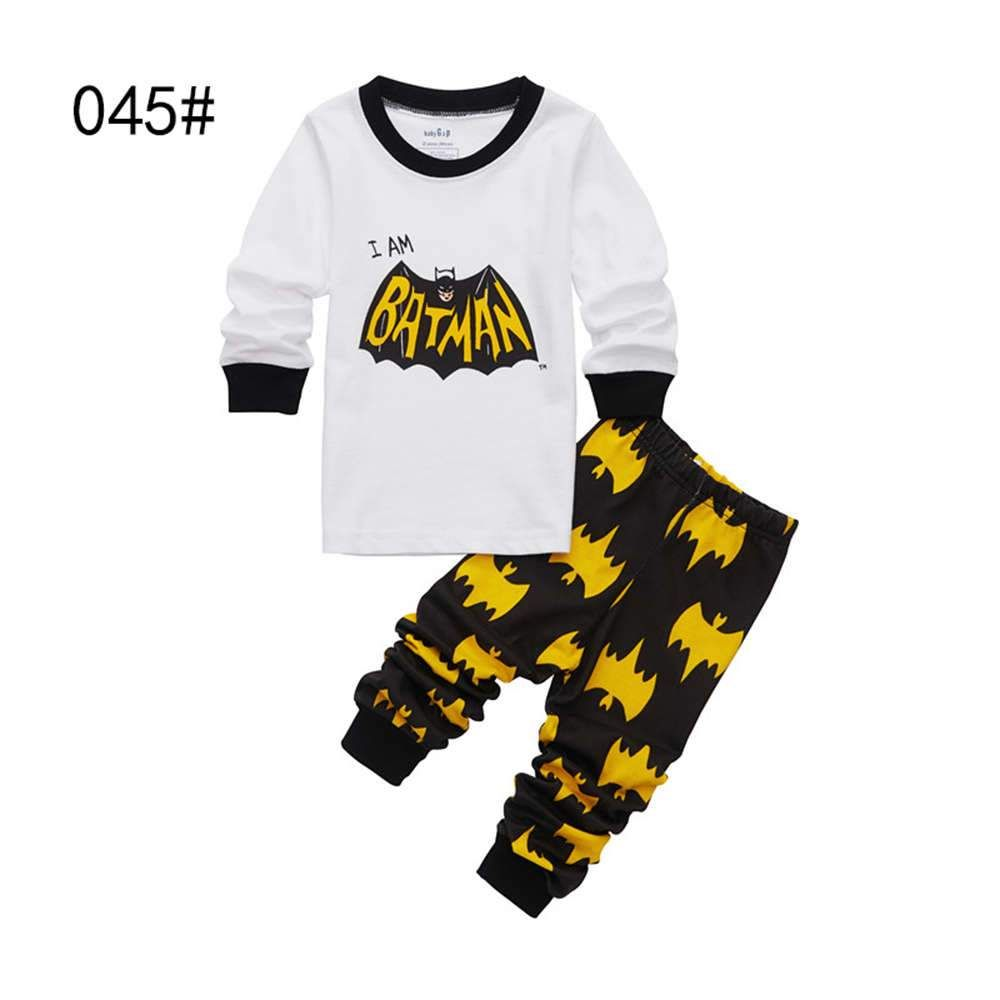 0ab939ab3 Brand Boys Sleepwear Clothes Kids Batman Pajamas Set Children s ...