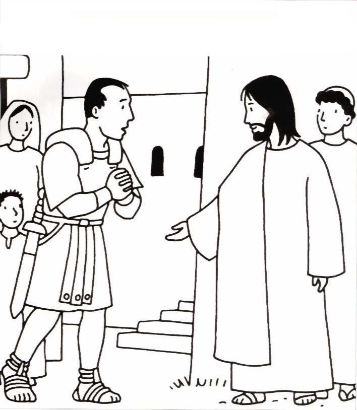 Jesus heals the official's son printable coloring sheet