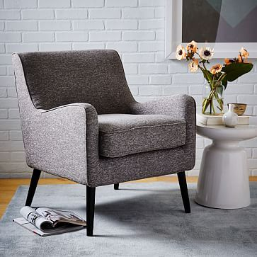 Book Nook Armchair Boucle Wheat At West Elm Chairs
