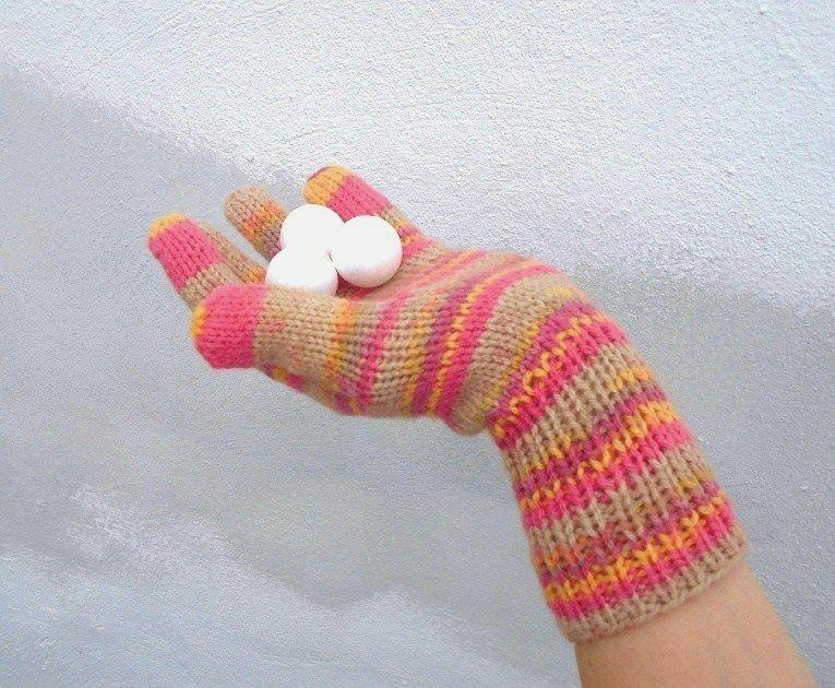 Rukavice+prstové+zimní+ručně+pletené+rukavice+na+průměrnou+dámskou +ruku+teplé f9079a41cb