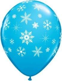 balao im. floco de neve azul