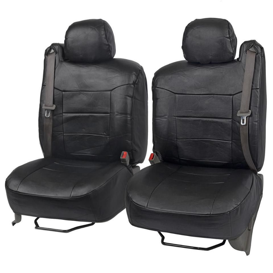 fitted leatherette seat covers built for integrated seat belts