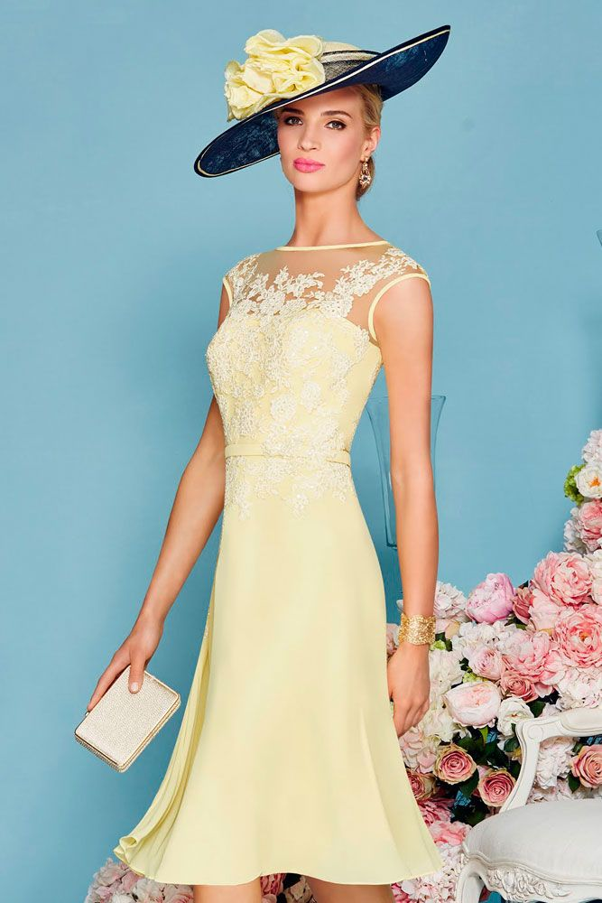 7b7b8b9108e 50 s Inspired dress and jacket in pretty tones of Lemon and Mint. This  stunning dress is soft and feminine with intricate lace applique to the  bodice and ...