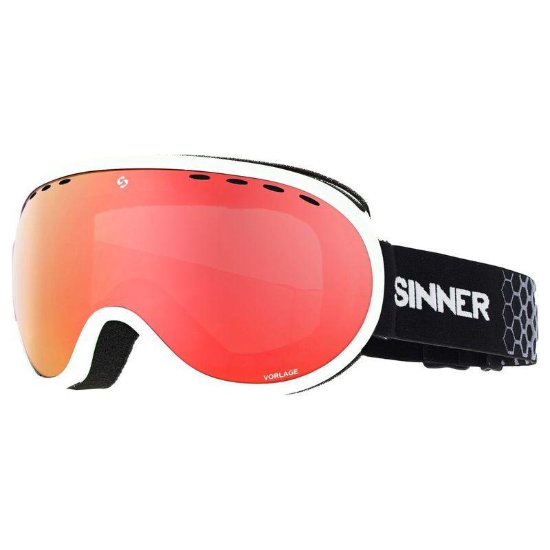 53f346bb422b Sinner Vorlage Goggles (Matte White Full Red Mirror)