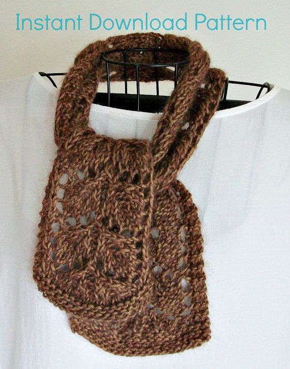 Easy Lace Knitting Pattern Frosted Fall Leaves Lace Scarf Romantic