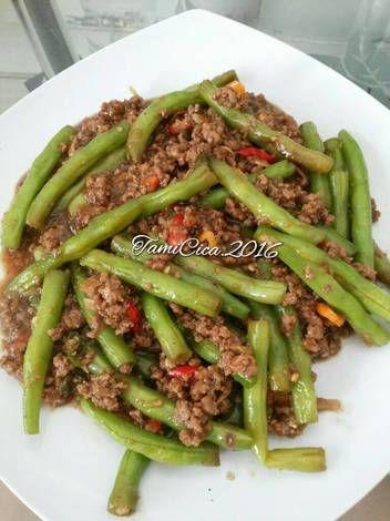 Resep Tumis Buncis Daging Giling Oleh Tamicica Resep Di 2020 Resep Makanan Tumis Resep