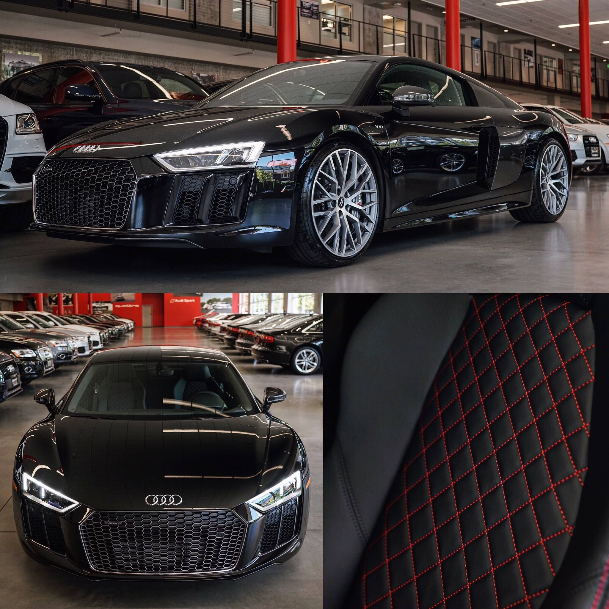 2017 R8 V10 Plus With Arras Red Stitching | Audi Seattle | #WantAnR8 |  AudiSeattle
