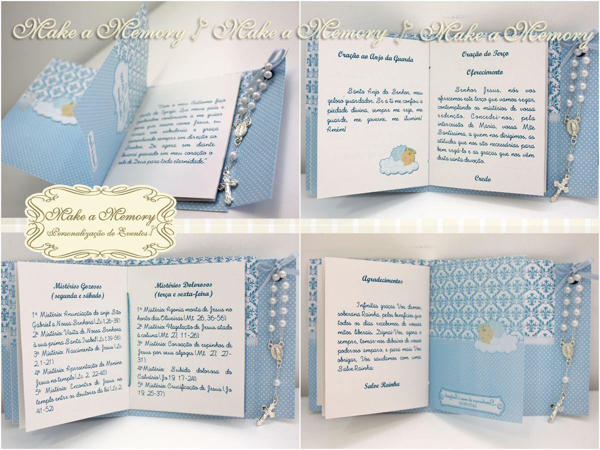 Make A Memory Livrinho De Oracoes Batizado Livros De Oracao