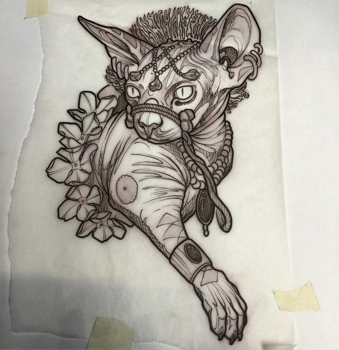 Sacrificial Sphinx Cat Up For Grabs Cat Cattattoo Tattoo Tattoer Tattoos Tattoodesign Tattooart Tattooartist Tattooflas Cat Tattoo Sphinx Cat Tattoos