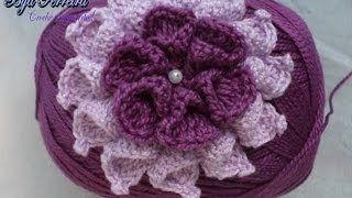 Flor Crochet Paso A Paso Youtube Crochet Pinterest Crochet
