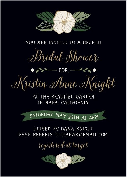 Garden floral bridal shower invitations invitations online shower garden floral bridal shower invitations filmwisefo Images