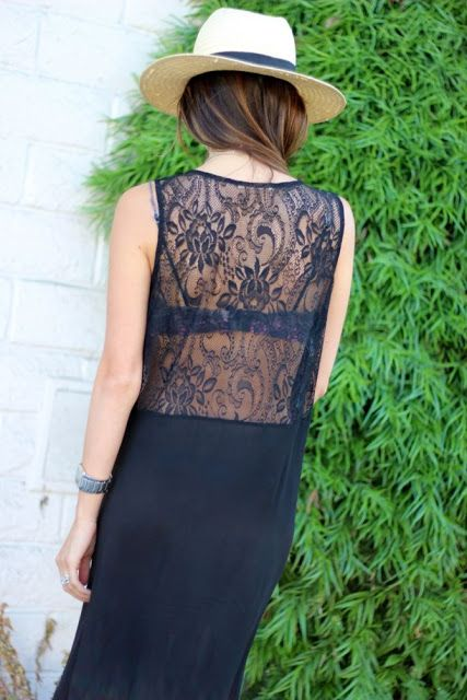 #fashion #summer #style #streetstyle #clothes #lace #hat #black #tops