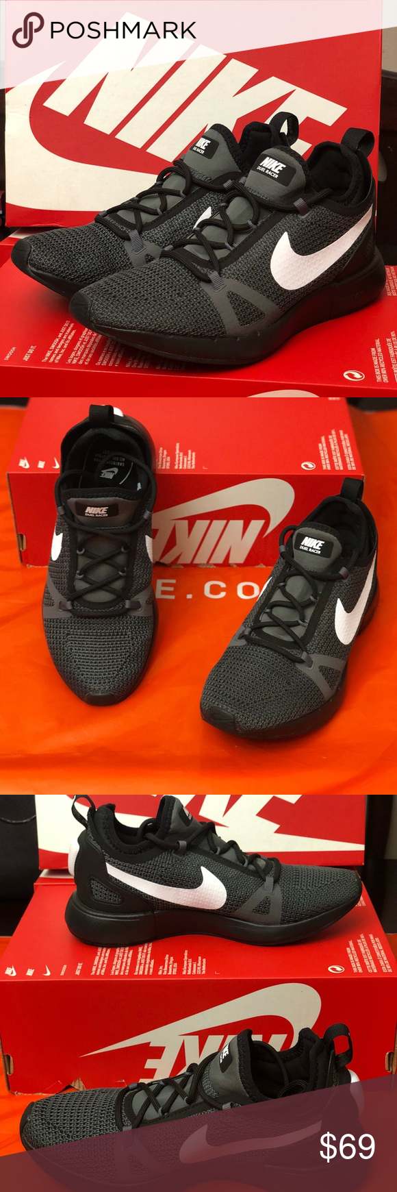 Authentic Womens Nike Duel Racer Brand new, never used Womens Nike Duel  Racer. Comes with original box without lid MSRP: $120 Color: Black/Dark Grey/White  ...