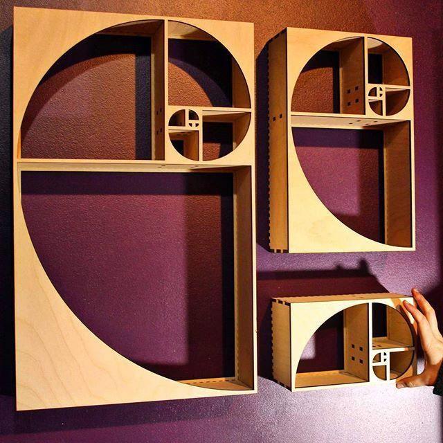 Fibonacci Sequence Curio Shelf - Naked Geometry