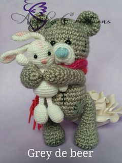 Grey De Beergrey The Bear Pattern By Angels Creations Crochet