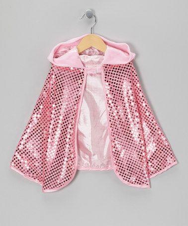Look what I found on #zulily! Pink Sequin Cape - Kids #zulilyfinds