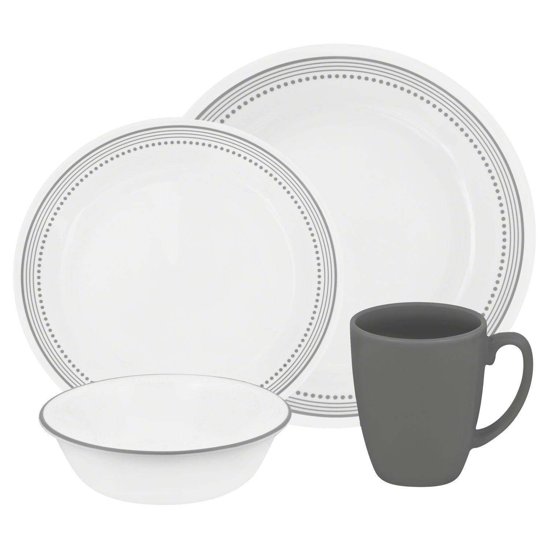 set of  map market push pins  modern dinnerware dinnerware and  - corelle® livingware™ mystic gray pc dinnerware setlivingware™ mysticgray