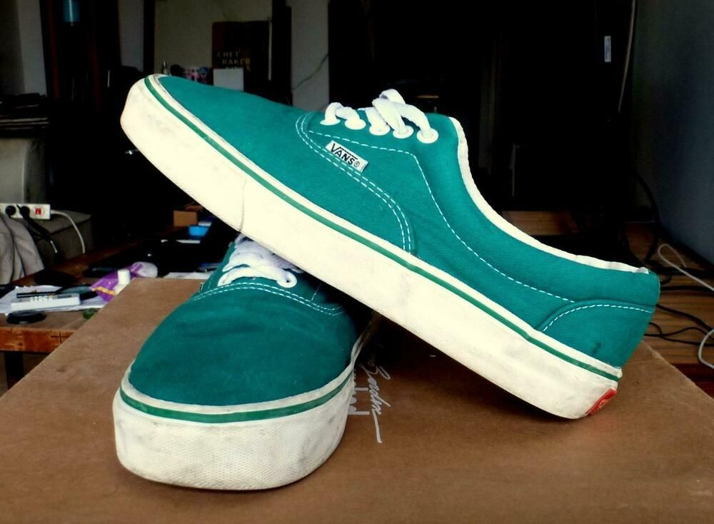 Vintage Vans Authentic Shoes 80s Teal Green Made In Usa Skate Size 9 Fashion Clothing Shoes Accessories Vintage Me Vintage Vans Vans Authentic Shoes Vans