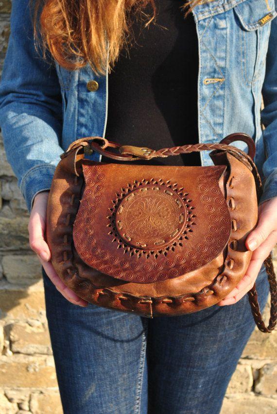 6c89713b8b20 Tooled leather bag