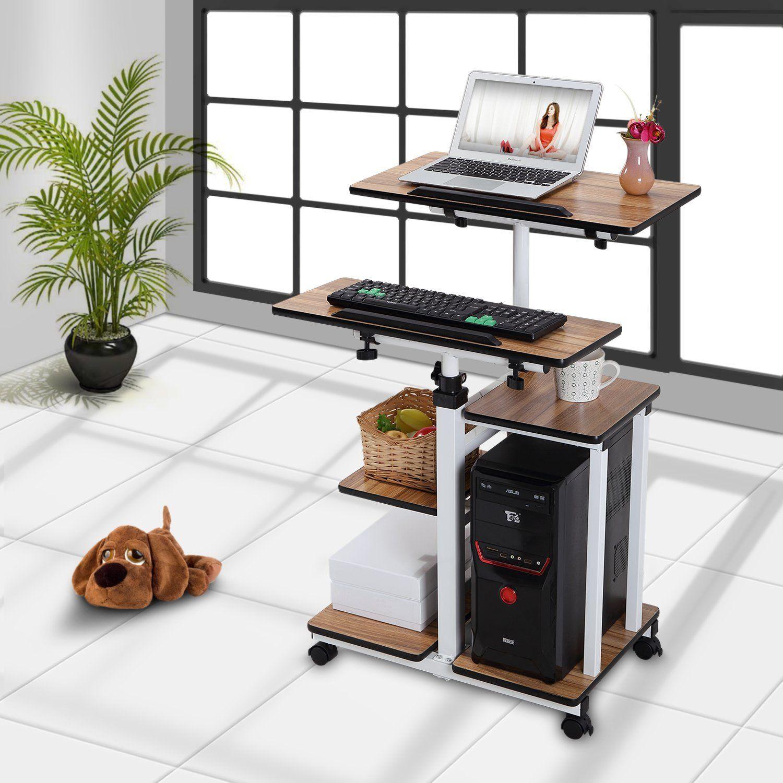 Mobile Workstation Cart Standing Desk