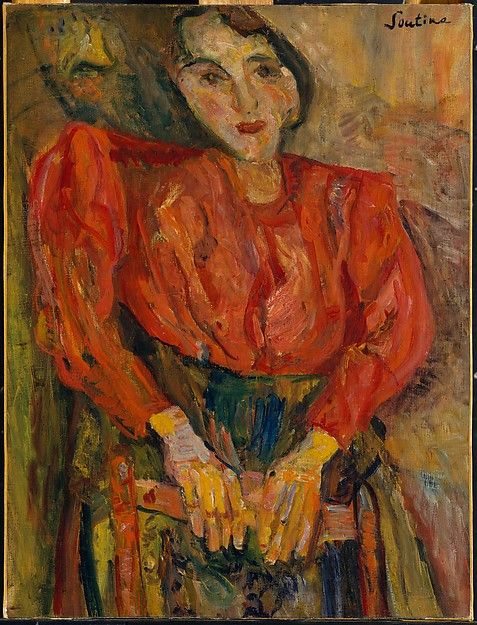 Soutine - Woman in Red Blouse, 1919. MET NY