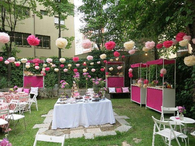 Bautizo en patio ajardinado bbc bodas bautizos for Decoracion bautizo en jardin