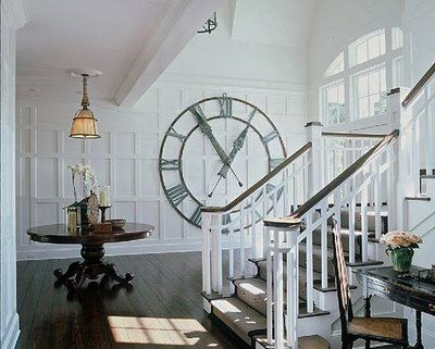 Love Love Love This Giant Clock Right In The Wall Huge Wall Clock Big Wall Clocks Giant Wall Clock