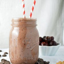 Chocolate Covered Cherry Smoothies // Another Root