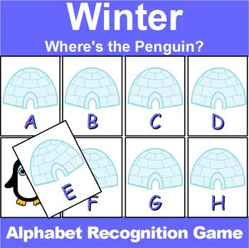 Winter Letter Recognition Center Or Whole Group Game  Chart