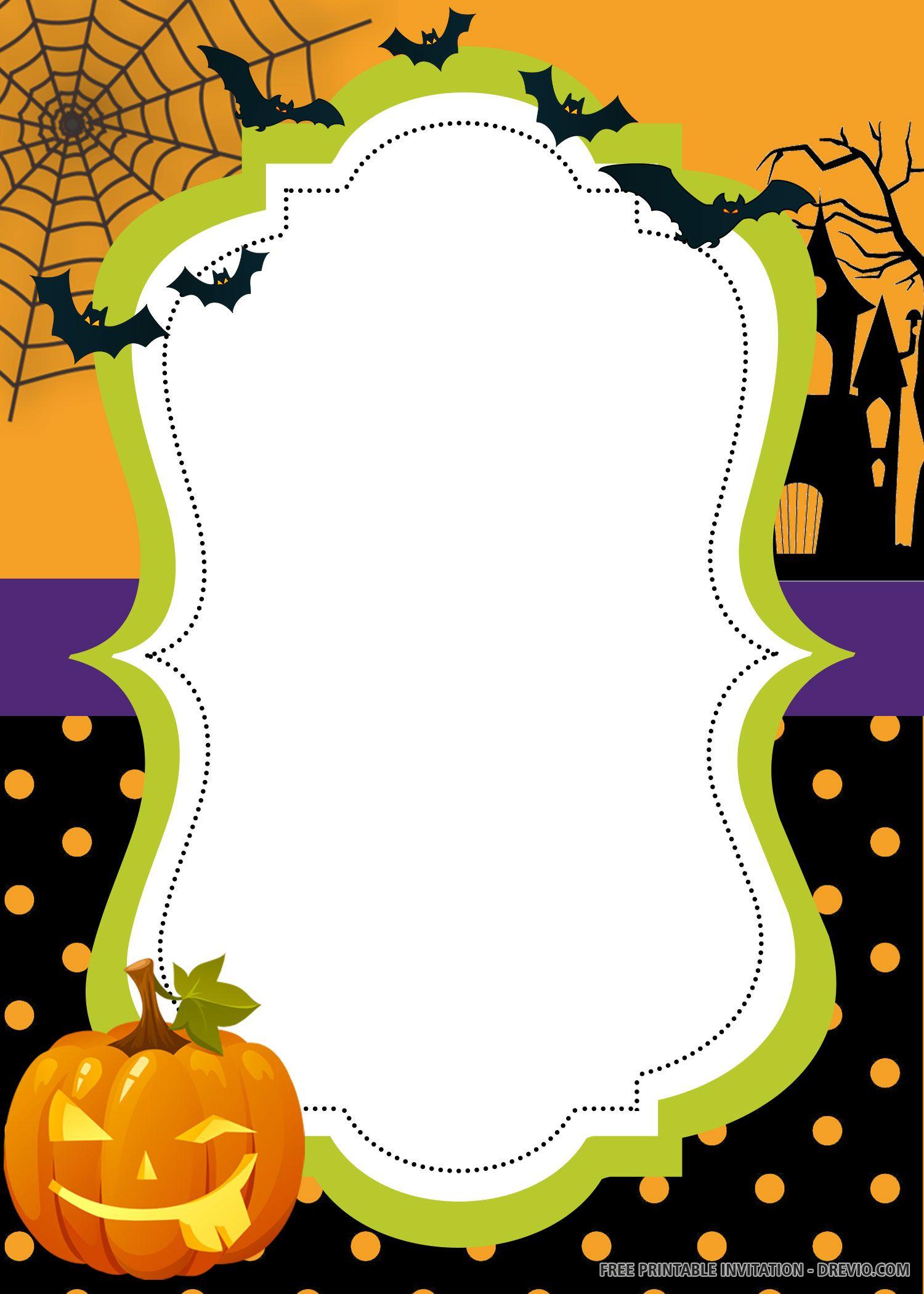 Free Printable Halloween Invitation Templates Halloween Invitation Templates Free Printable Halloween Invitations Printable Halloween Invitations