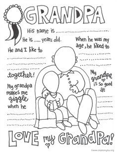 The Cutest Grandparents Day Coloring Pages Fathers Day Coloring Page Grandparents Day Activities Father S Day Diy