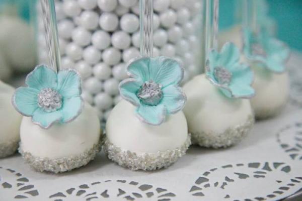 Tiffany Themed 40th Birthday Party - Bella Paris Designs - Cakepops