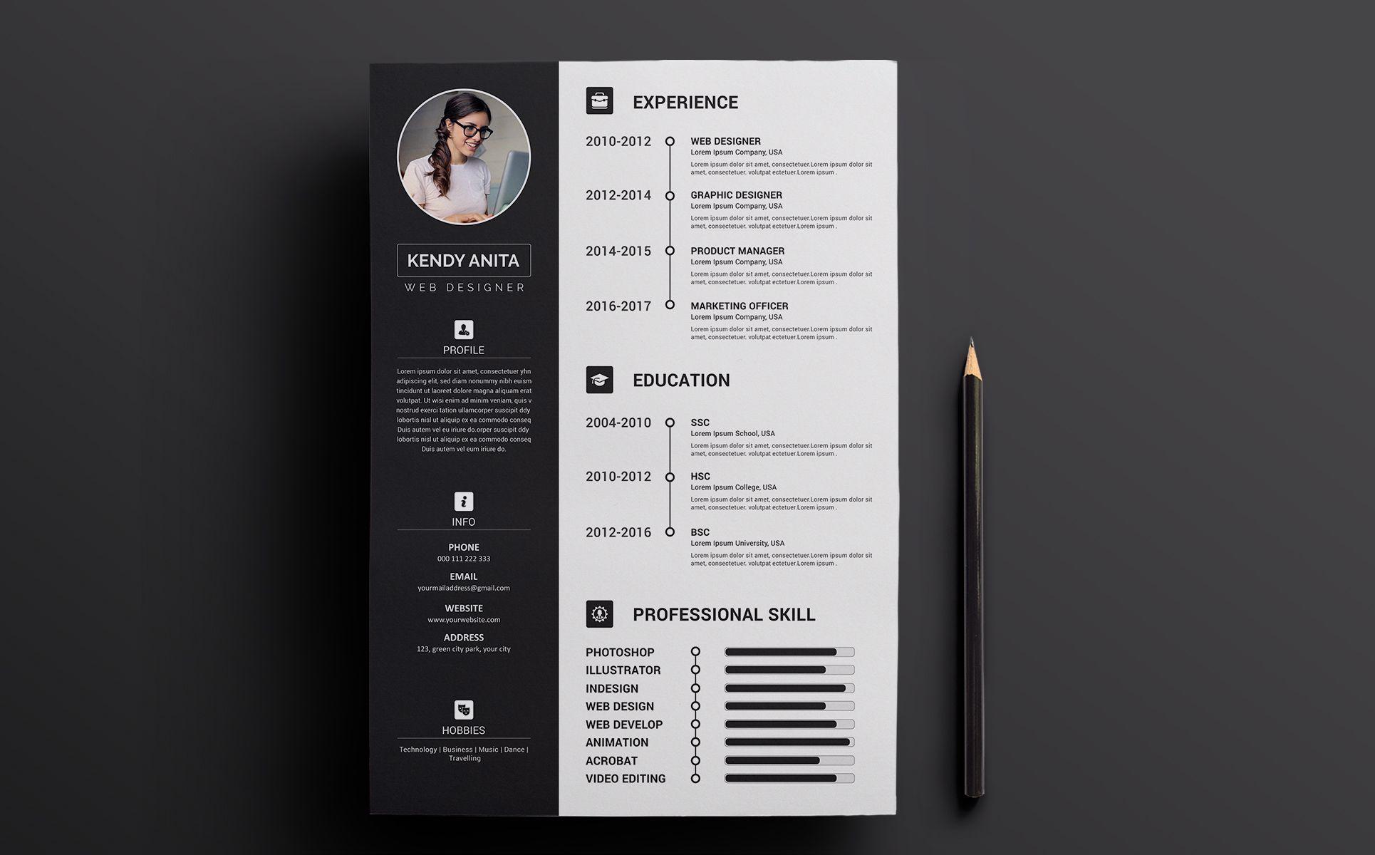 Andy CV & Resume Template Resume Template 70646 Cv