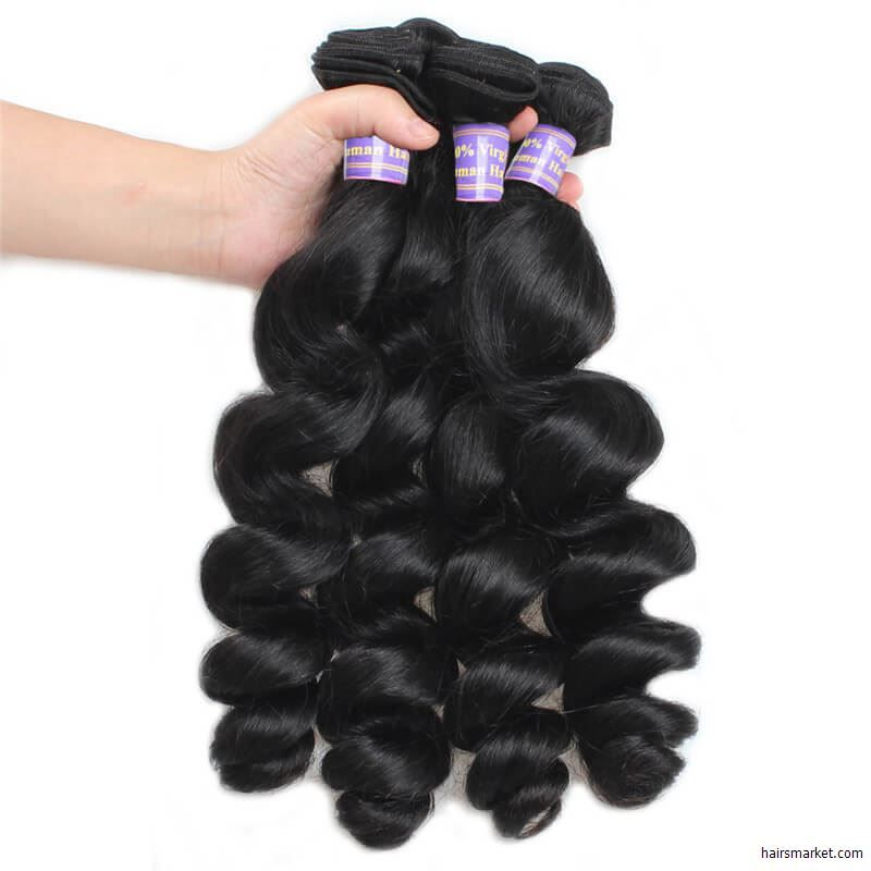 Indian Diamond Virgin Hairnatural Black Human Hair Weave Bundles