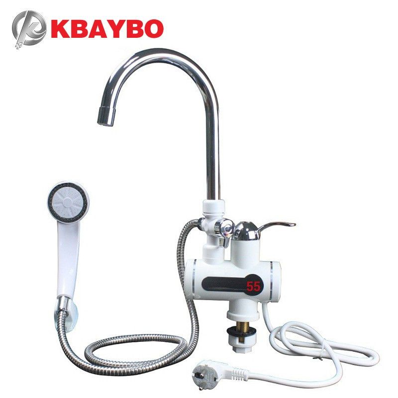 Details about Kitchen Water Heater Tap Faucet Tankless