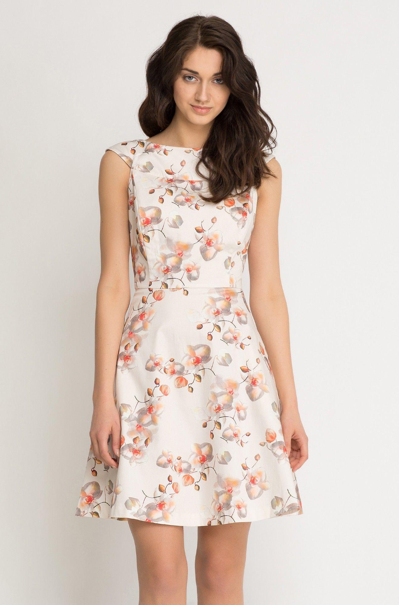 Šaty s motivem květů vstavače  e981998333
