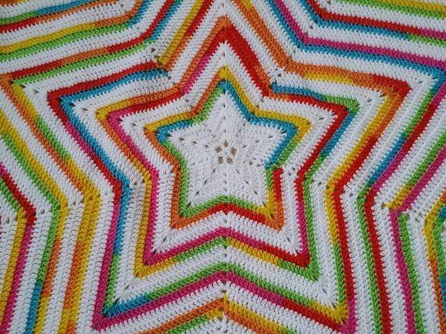 Rainbow Star Crochet Pinterest Breien Haken And Deken Haak