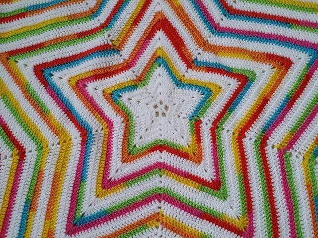 Rainbow Star... | crochet crafts | Pinterest | Manta, Cobija y Colchas