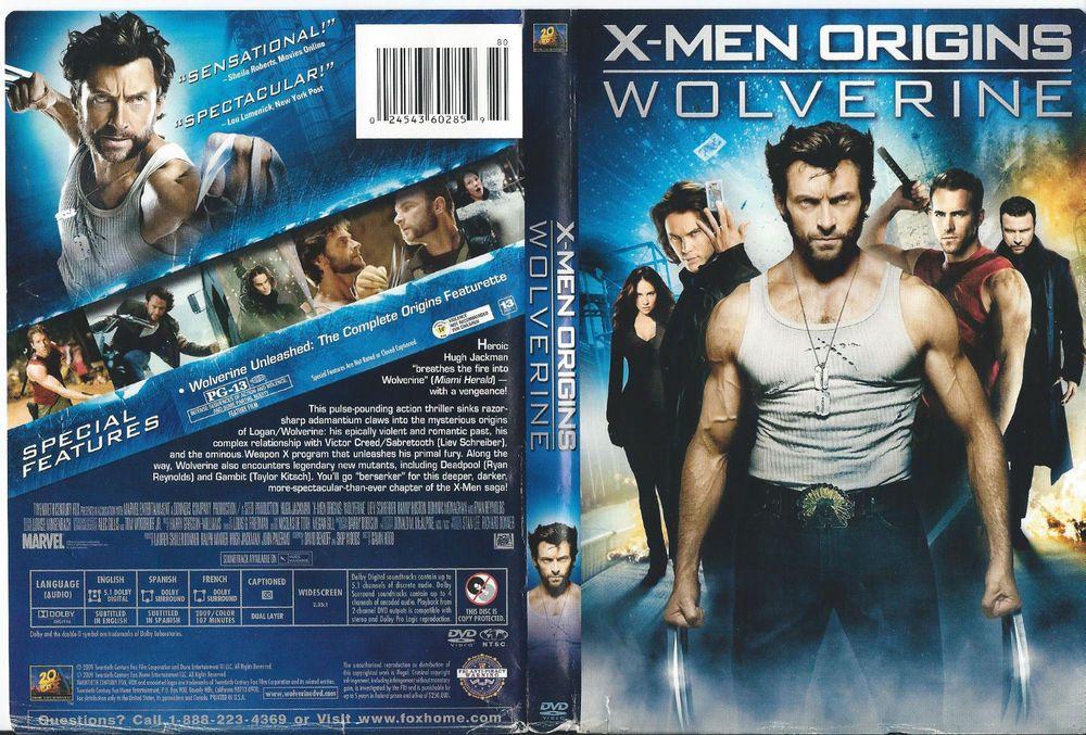 X Men Origins Wolverine Dvd Dvd Covers X Men Dvd