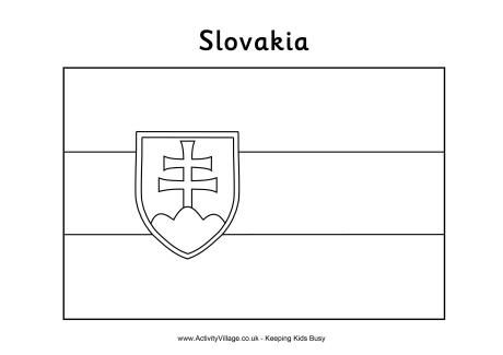 Slovakian Flag Colouring Page