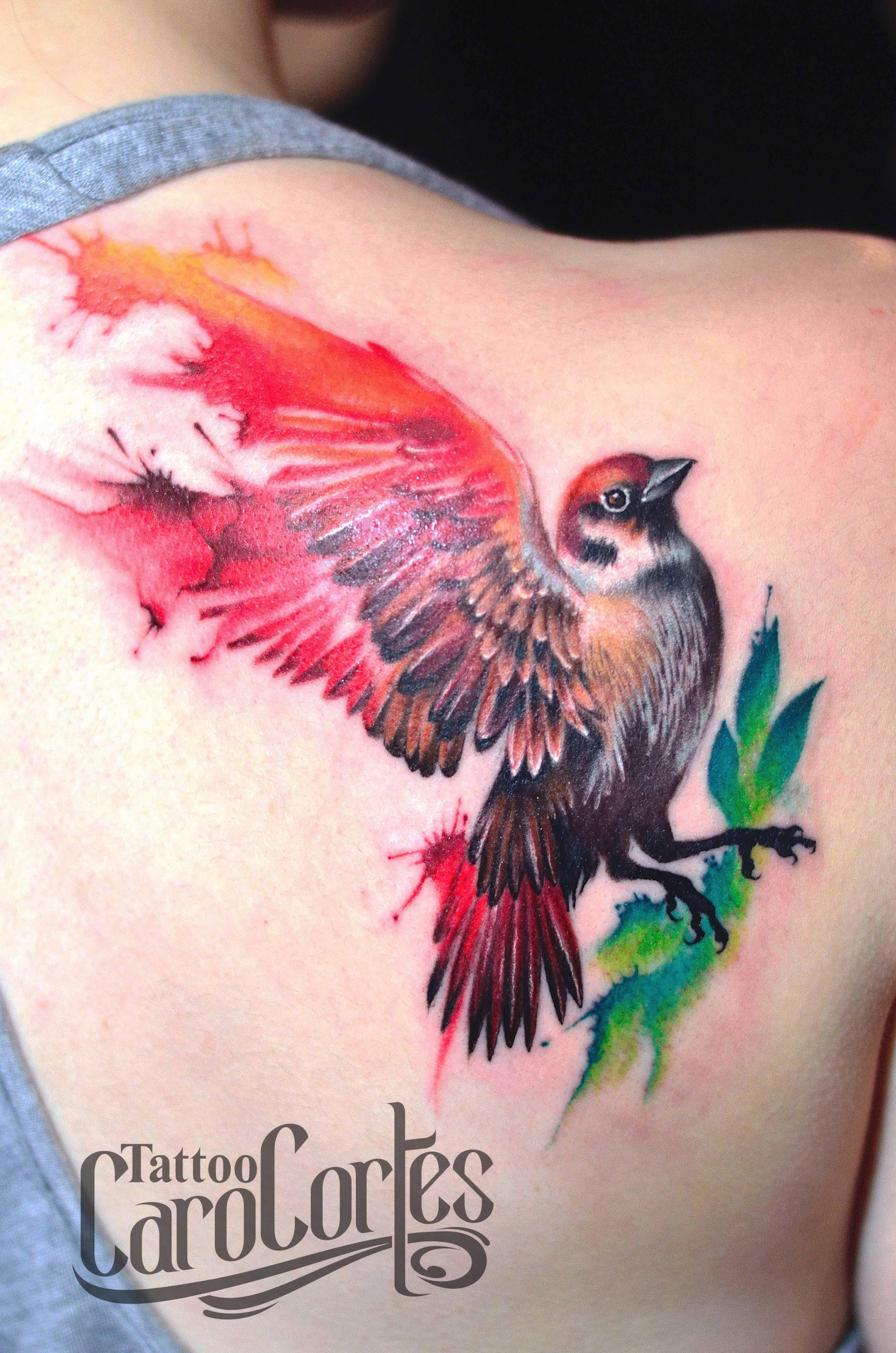 Watercolor tattoo artists in houston texas - Watercolor Sparrow Acuarela Y Gorrion Caro Cortes Colombian Tattoo Artist Carocortes Tumblr