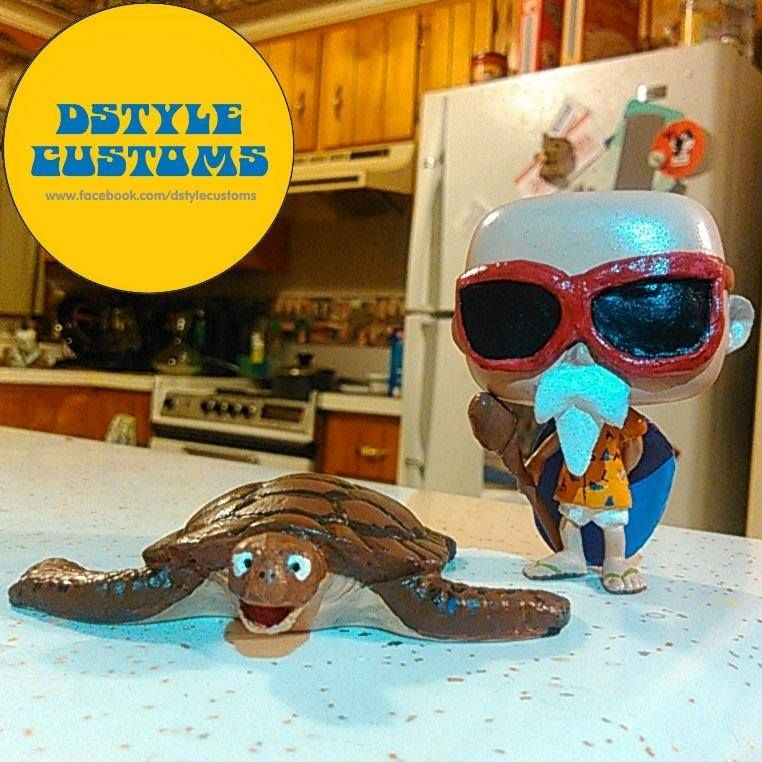 Custom Funko Pop Master Roshi And Turtle By Dstyles Customs For More Of My Work Visit My Page Www Facebook Com Funko Custom Funko Pop Custom Funko Chibi