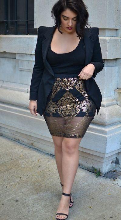 e01d873e0ed6c Plus size fashion #delicatecurves #plussize #plussizefashion ❥  DelicateCurves www.kickstarter.c... | دبدوبات | Tenues grande taille, Mode  femme forte et ...