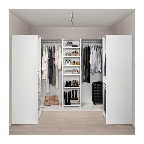 PAX Eckkleiderschrank, weiß - weiß 160/273/160x201 cm | Wohnung ...