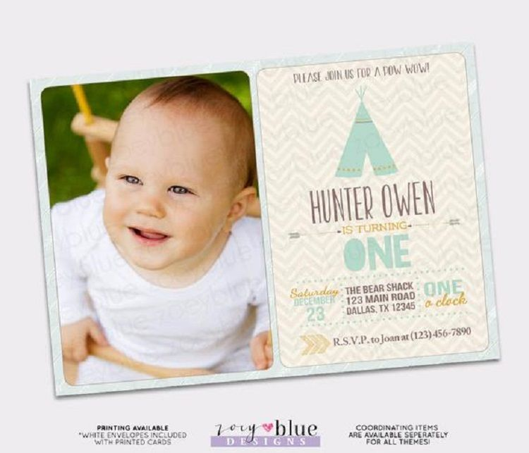 First Birthday Invitation Templates India Party Ideas First
