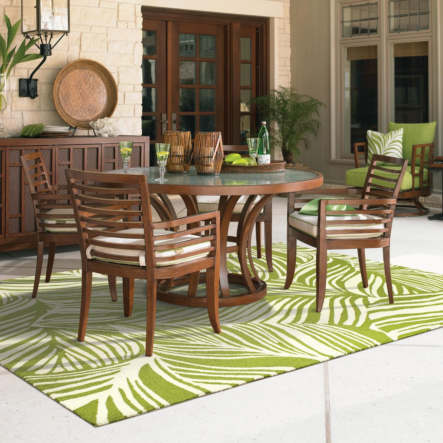 Tommy Bahama Ocean Club Pacifica 4 Person Aluminum Patio Dining